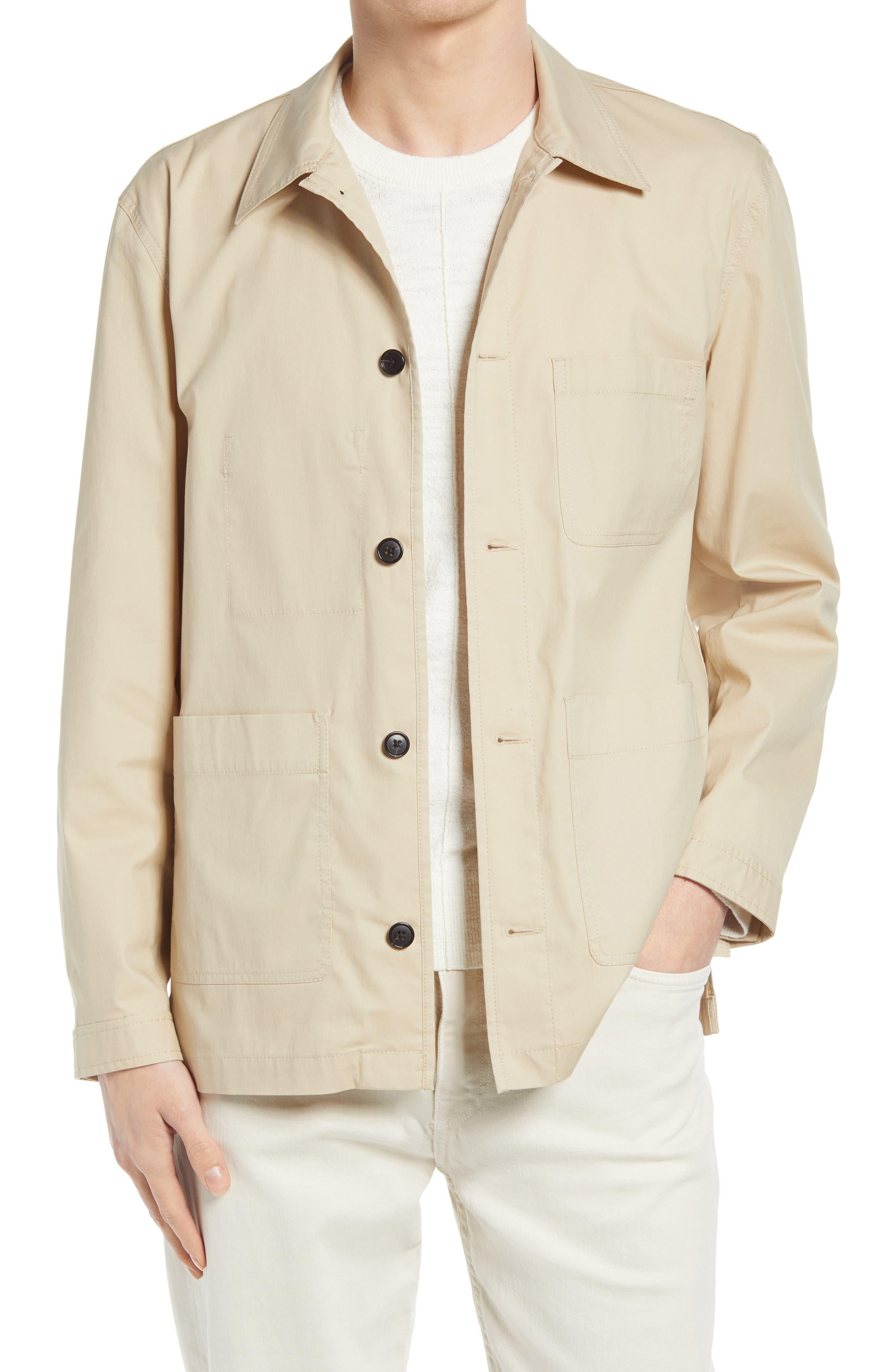 1920s Men's Workwear, Casual Clothes Mens Club Monaco Workwear Cotton Blend Jacket Size Small - Beige $93.23 AT vintagedancer.com