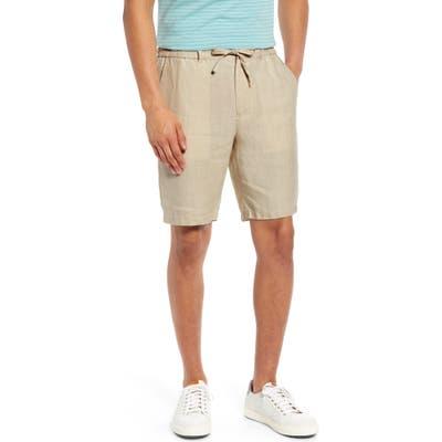 Vince Lightweight Hemp Shorts, Beige