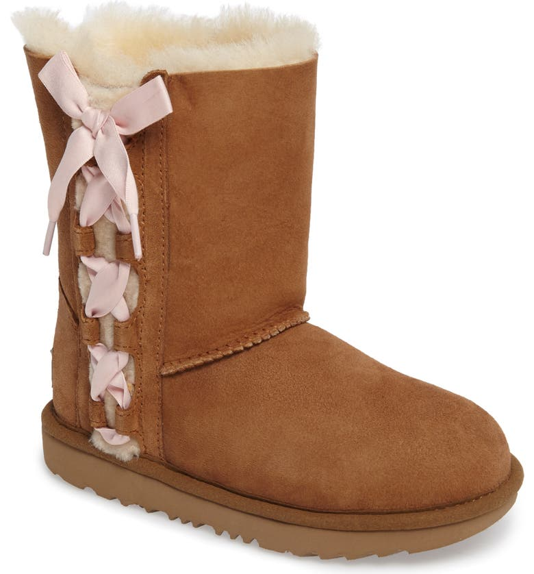 UGG<SUP>®</SUP> Pala Water-Resistant Genuine Shearling Boot, Main, color, CHESTNUT