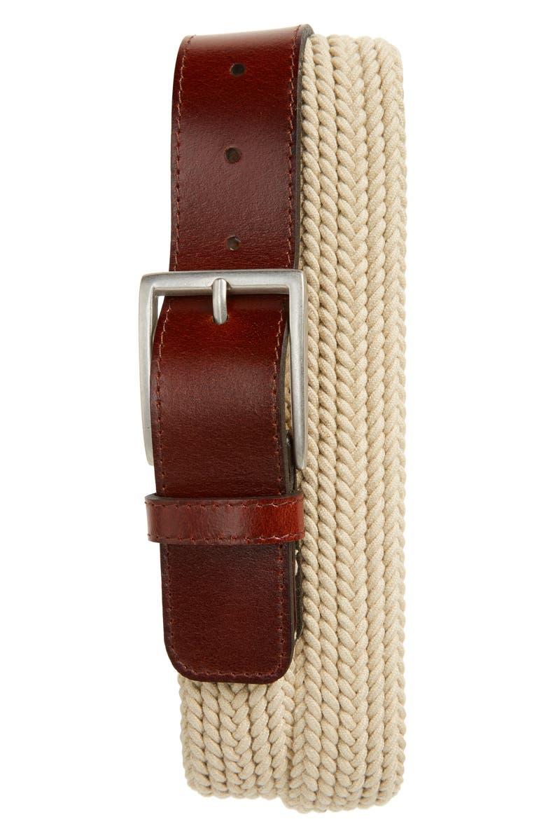 NORDSTROM MEN'S SHOP Ellis Web Belt, Main, color, 230