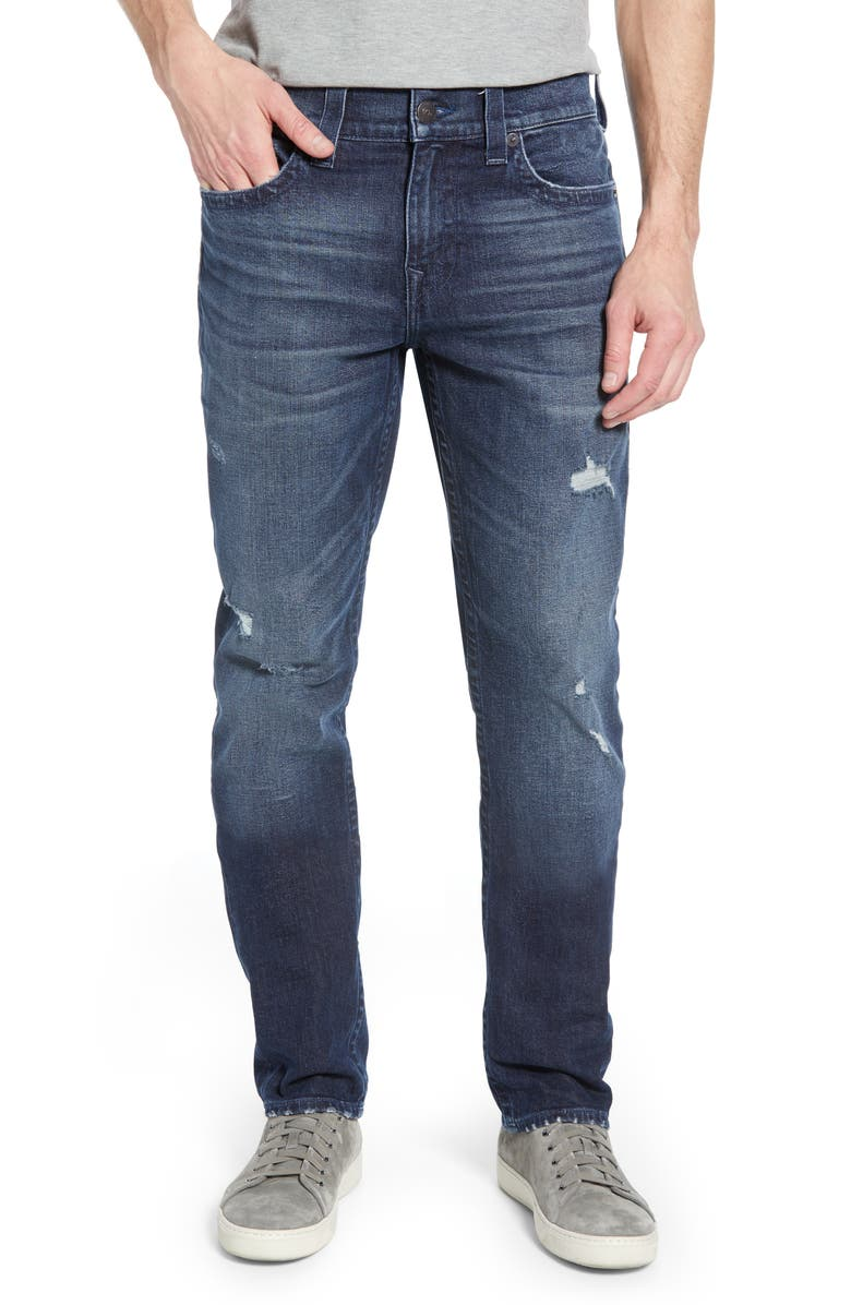 TRUE RELIGION BRAND JEANS Geno Straight Leg Jeans, Main, color, 402
