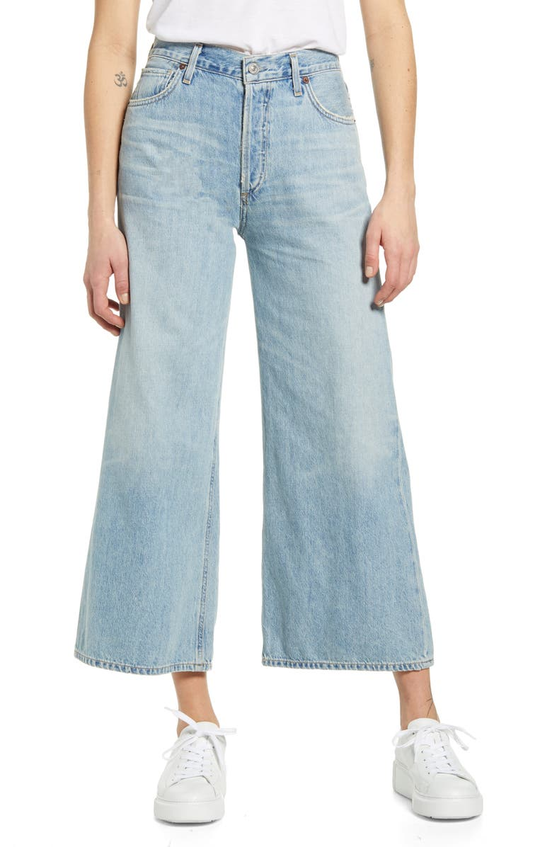 CITIZENS OF HUMANITY Serena High Waist Wide Leg Culotte Jeans, Main, color, HIGH DIVE