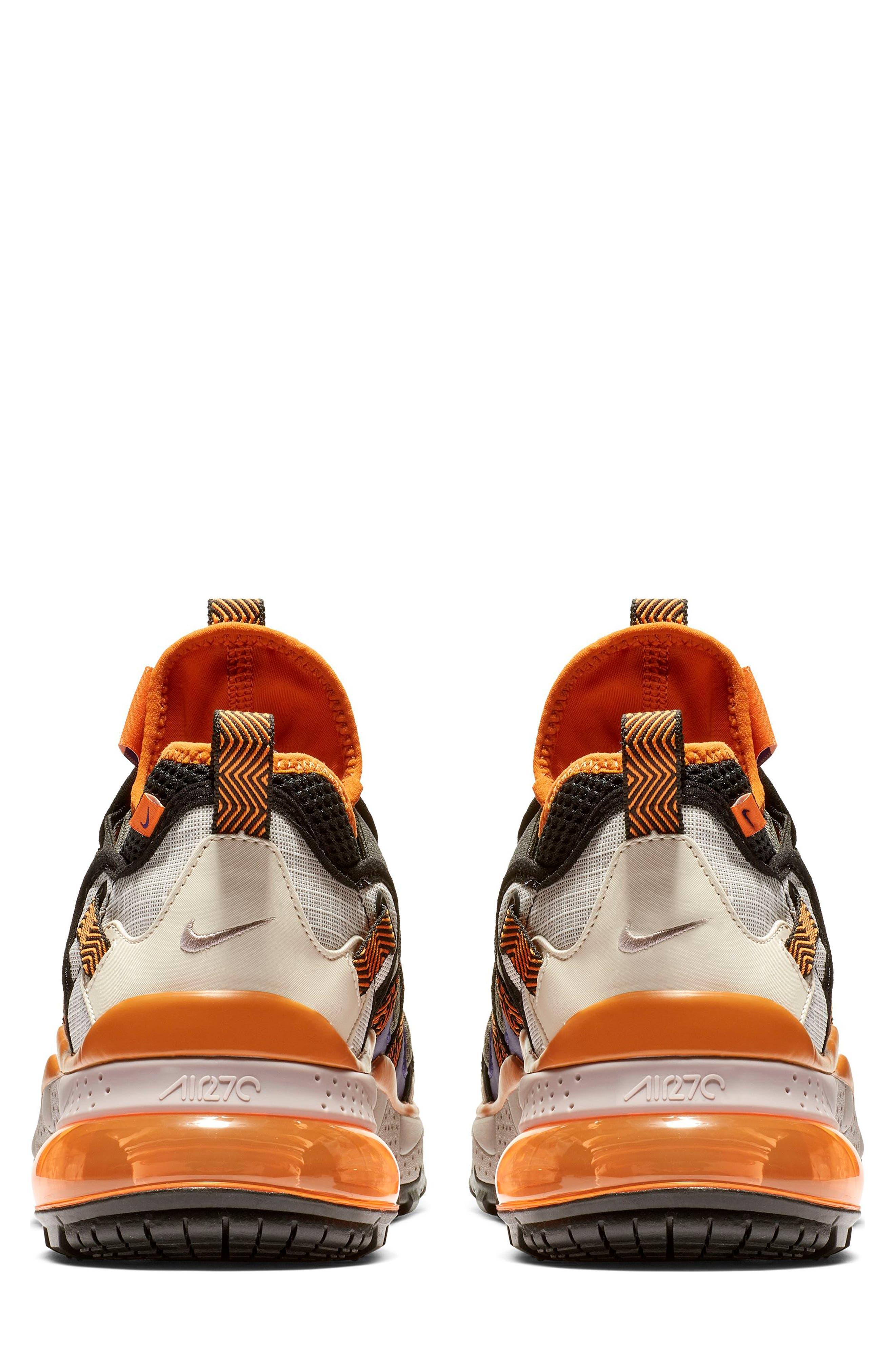 ,                             Air Max 270 Bowfin Sneaker,                             Alternate thumbnail 5, color,                             PUMICE/ BROWN/ CINDER ORANGE