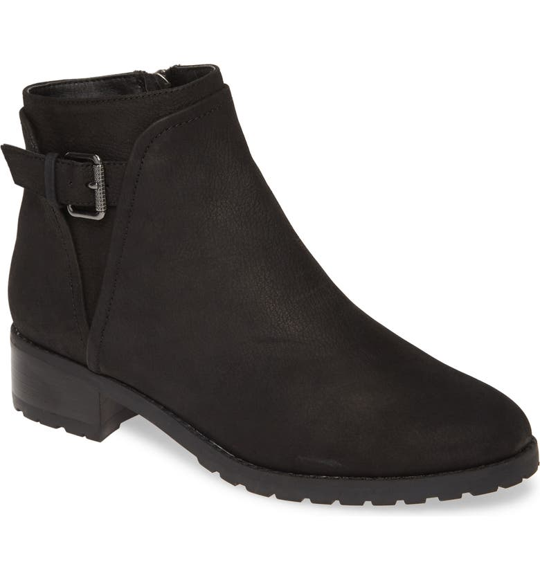 CASLON<SUP>®</SUP> Oaklee Water Resistant Bootie, Main, color, BLACK OILED NUBUCK