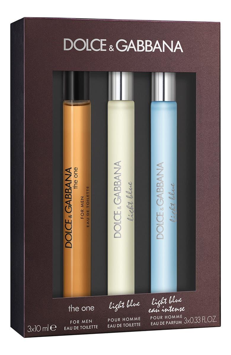 DOLCE&GABBANA BEAUTY Dolce&Gabbana Travel Size Light Blue Men's Fragrance Set, Main, color, NO COLOR
