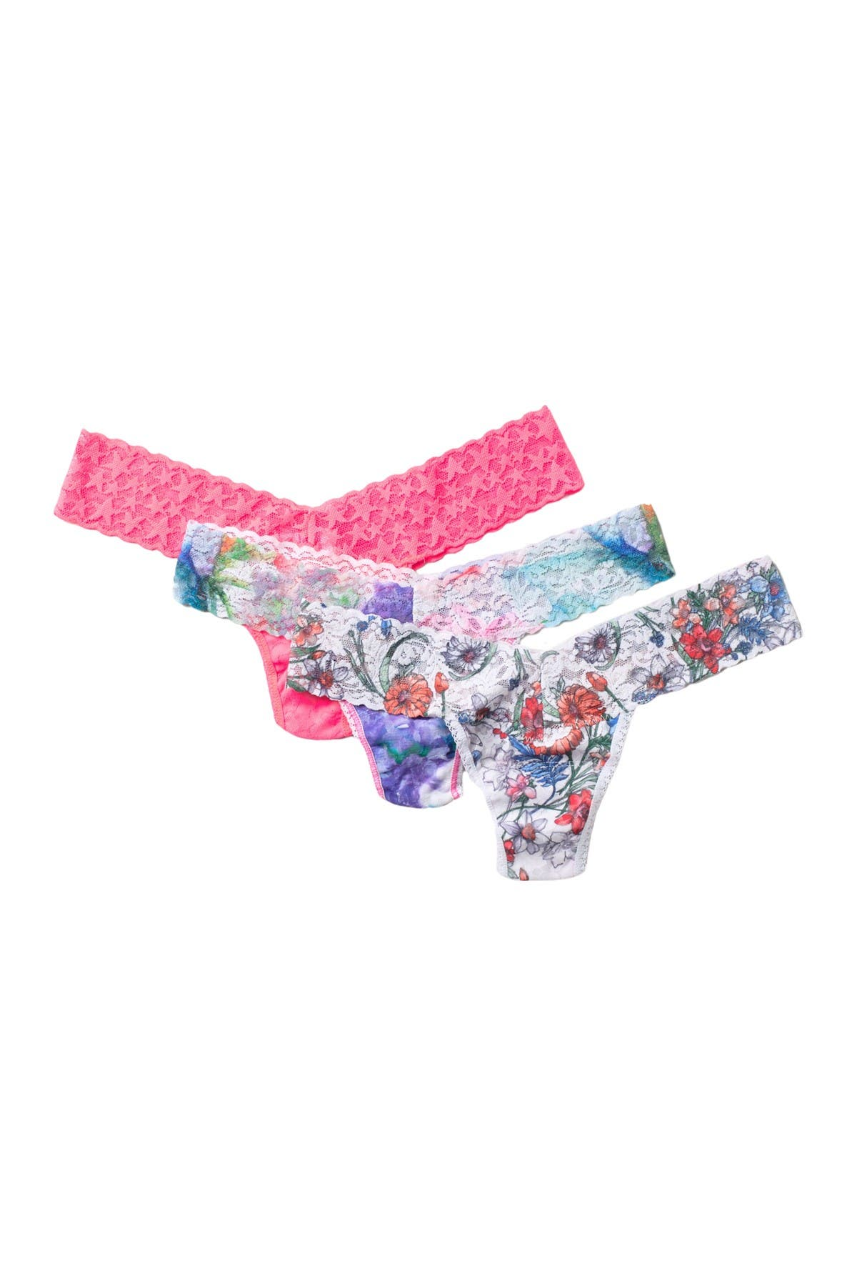 Image of Hanky Panky Low Rise Thong - Pack of 3