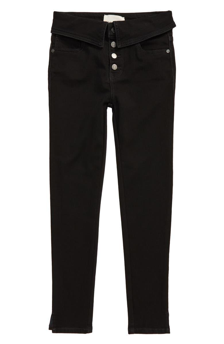 HABITUAL Kristyn Flip Waist Skinny Jeans, Main, color, 001