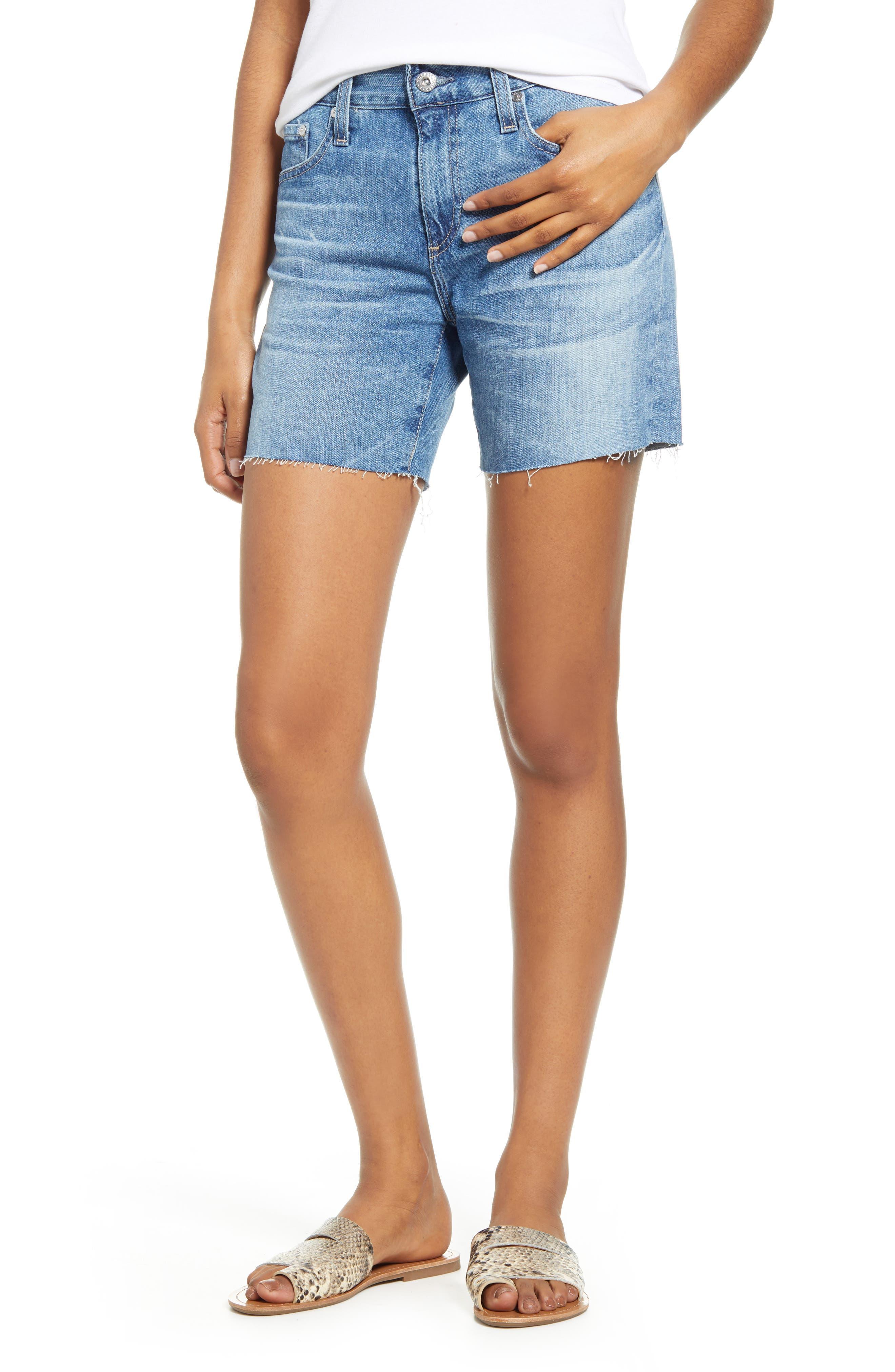 Women's Ag Becke Cutoff Denim Shorts,  27 - Blue