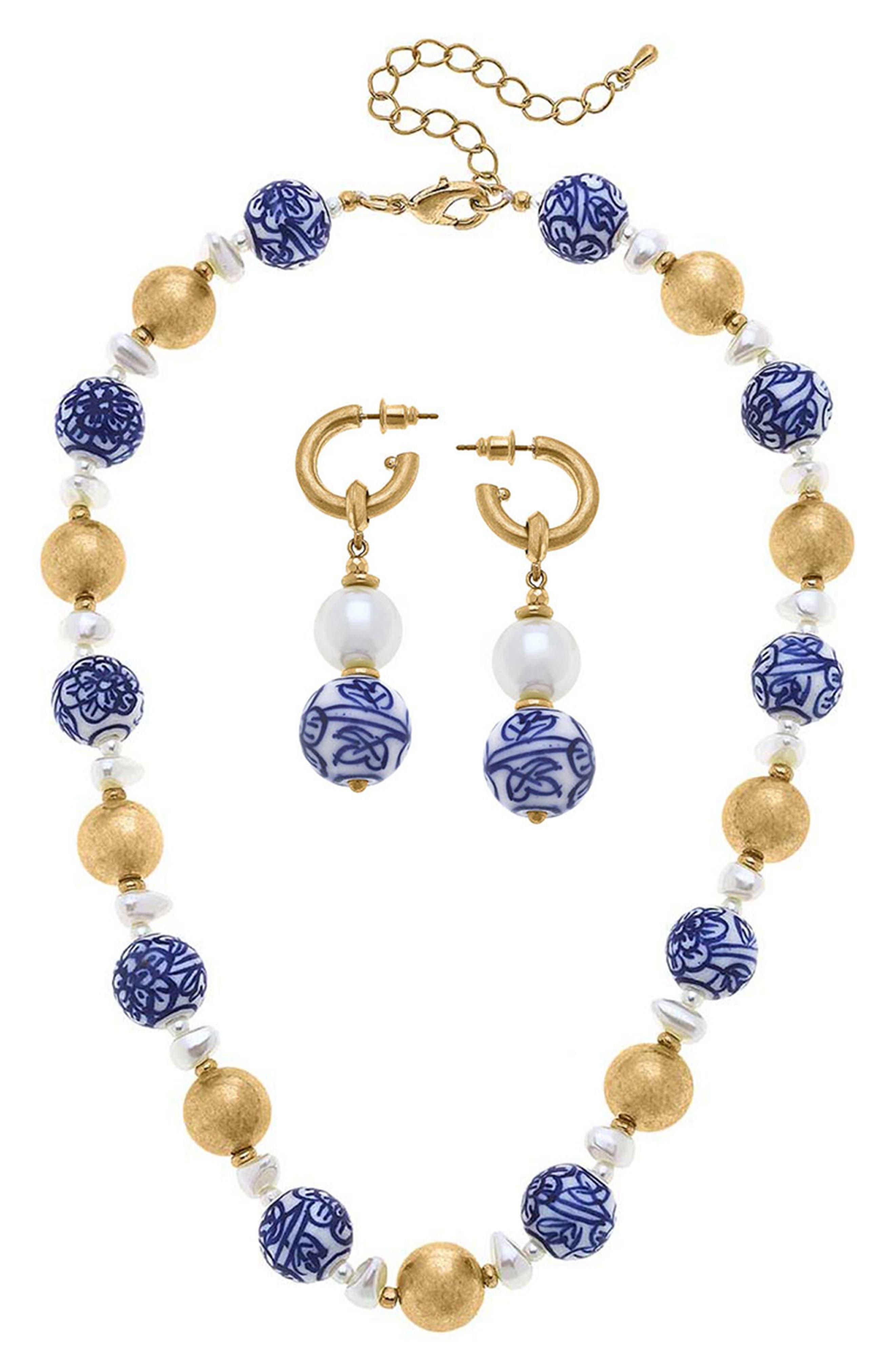 Drop Earrings & Necklace Set
