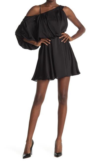 Image of Do + Be Cold Shoulder Unbalanced Dress
