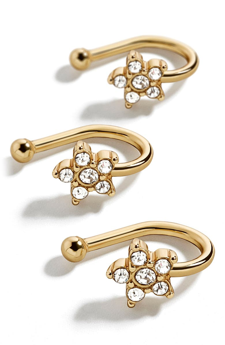 BAUBLEBAR Hydra Set of 3 Ear Cuffs, Main, color, GOLD
