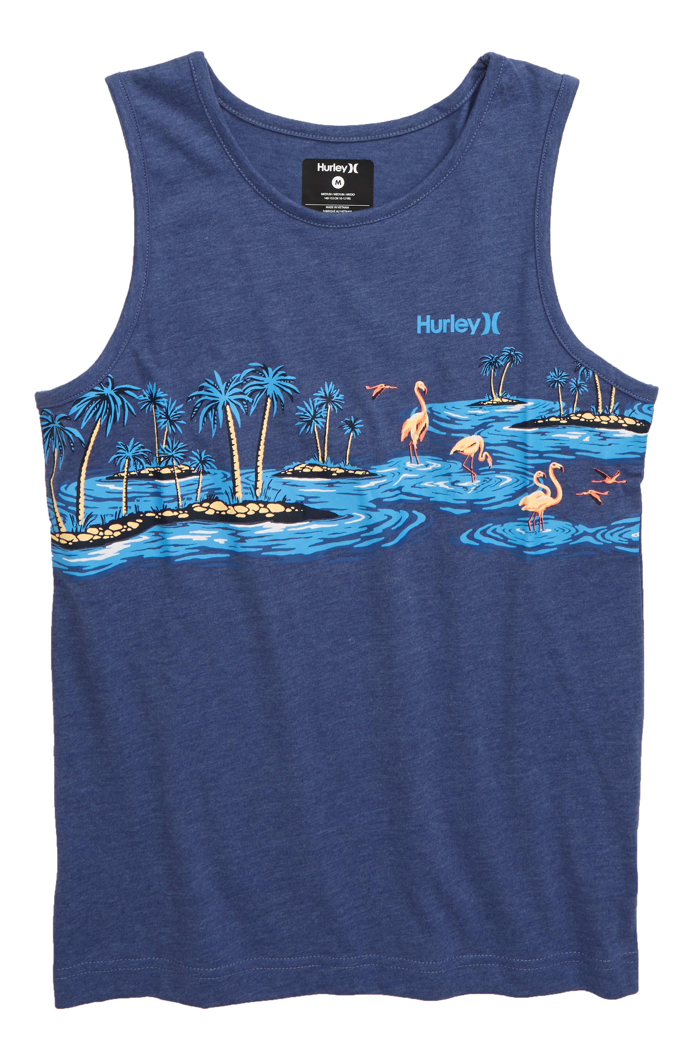 Boys Hurley Flamingo Tank Size XL (1820)  Blue