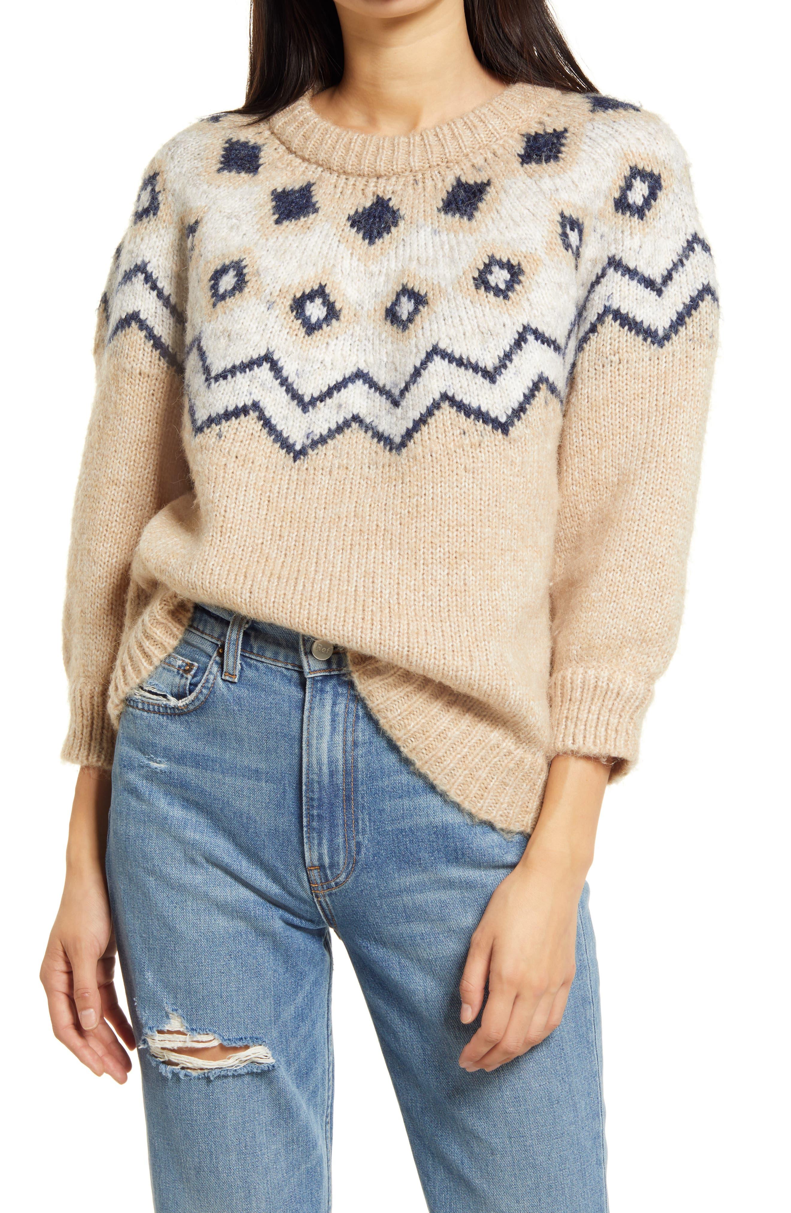 VERO MODA Fairs Fair Isle Crewneck Sweater | Nordstrom
