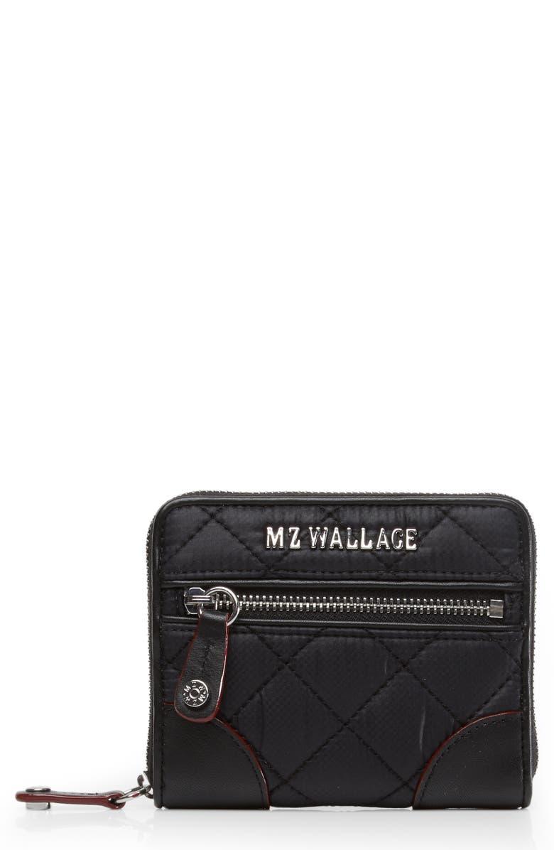 MZ WALLACE Mini Crosby Wallet, Main, color, BLACK
