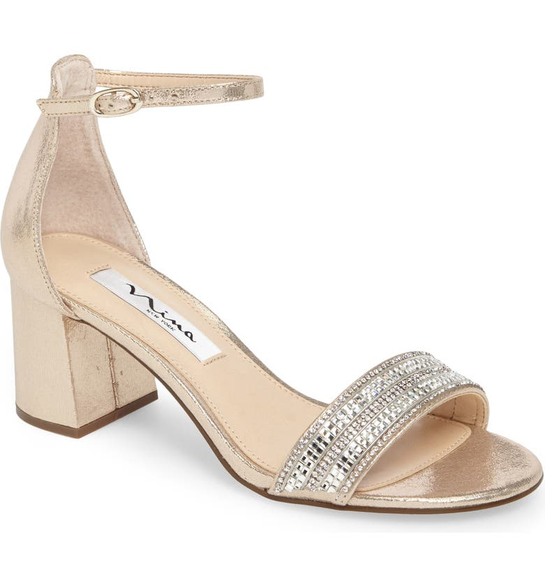 NINA Elenora Sandal, Main, color, TAUPE METALLIC