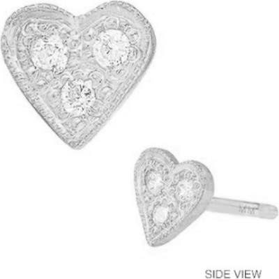 Mini Mini Jewels Diamond Icon Heart Earring