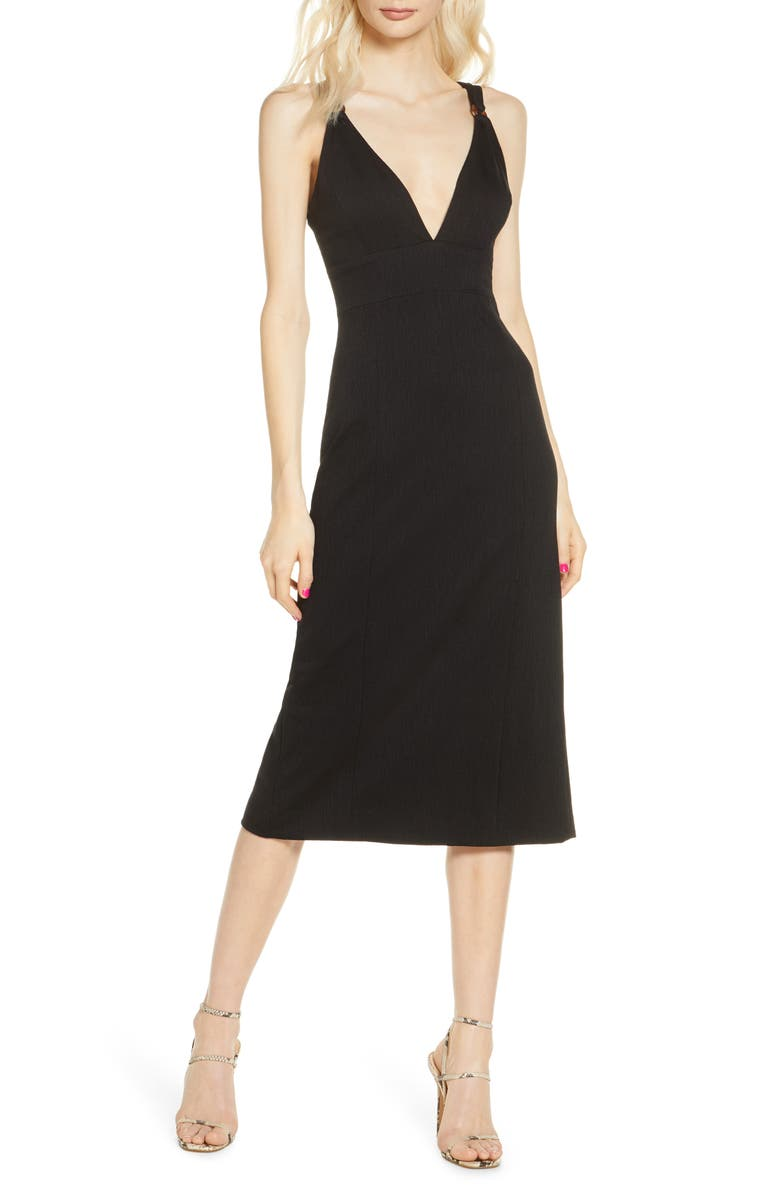 FINDERS KEEPERS Effy Sheath Dress, Main, color, 001