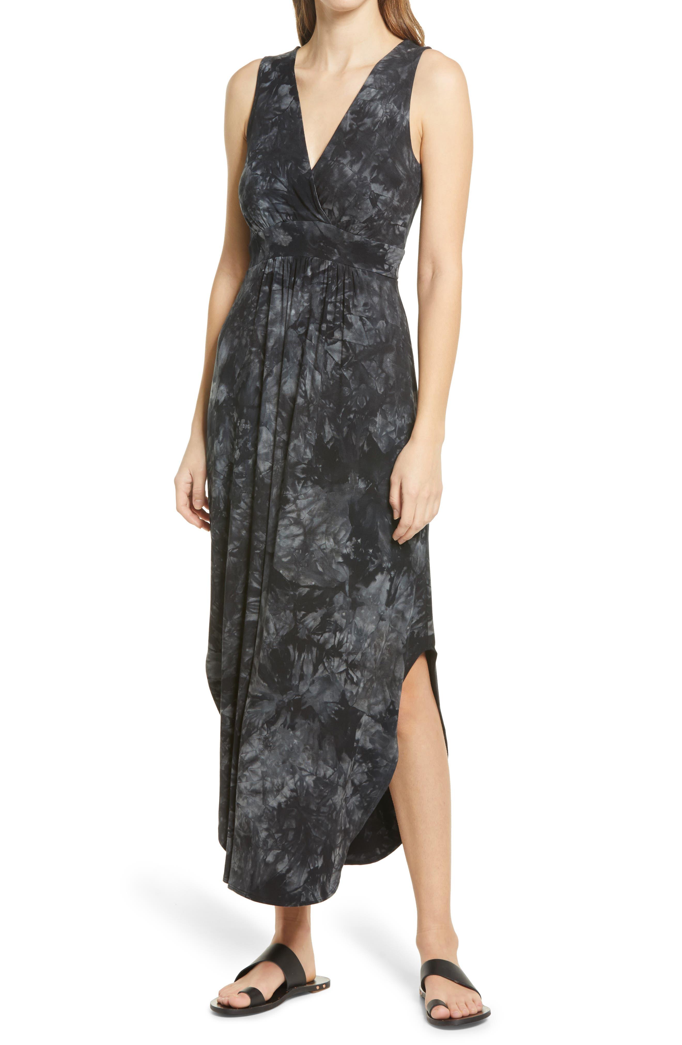Sleeveless Tie Dye Side Vent Dress