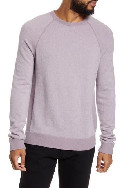 Image of Vince Birdseye Crewneck Wool & Cashmere Sweater