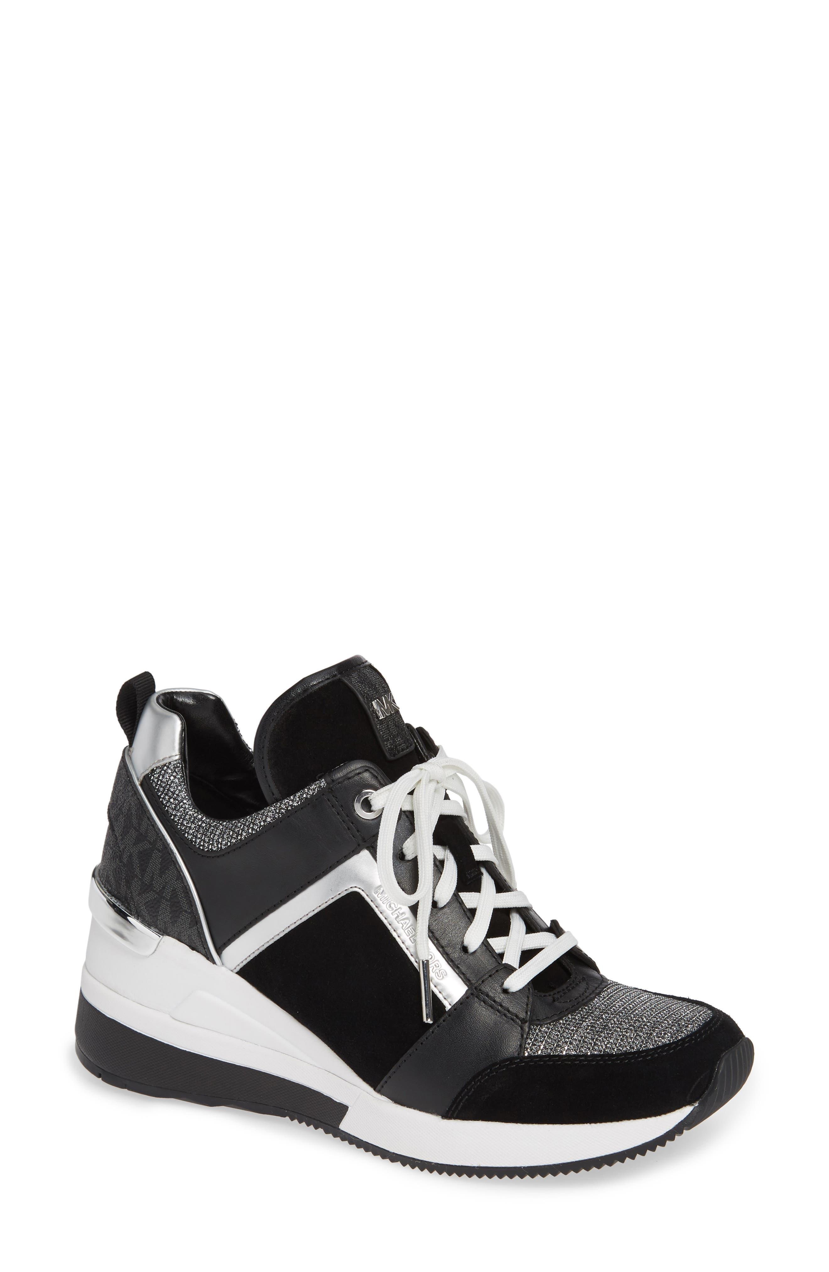Georgie Wedge Sneaker, Main, color, 001