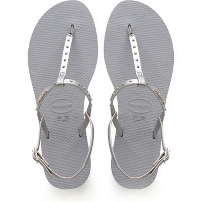 Havaianas You Riviera Embellished Sandal, 9/40 BR - Grey