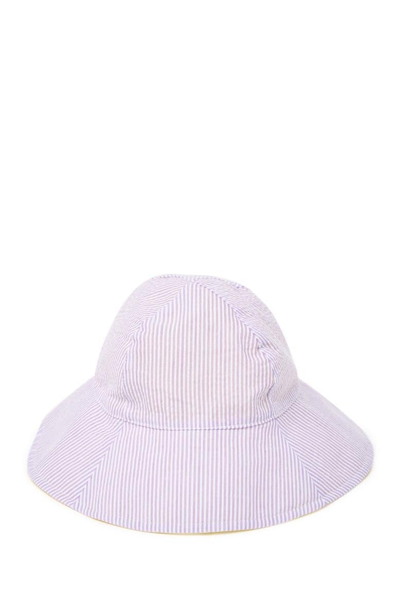 SAN DIEGO HAT Infant Striped Bucket Sun Hat, Main, color, PURPLE