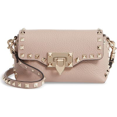 Valentino Garavani Rockstud Mini Calfskin Leather Crossbody -
