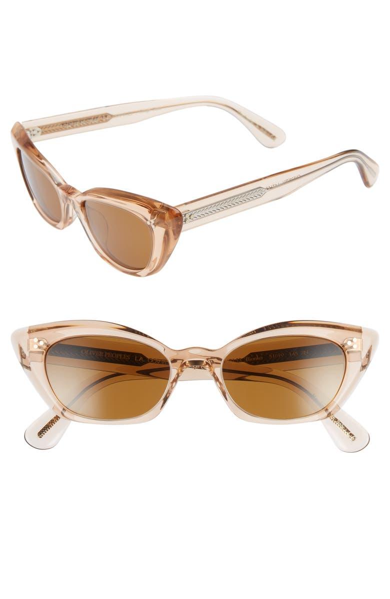 OLIVER PEOPLES Bianka 51mm Cat Eye Sunglasses, Main, color, 250