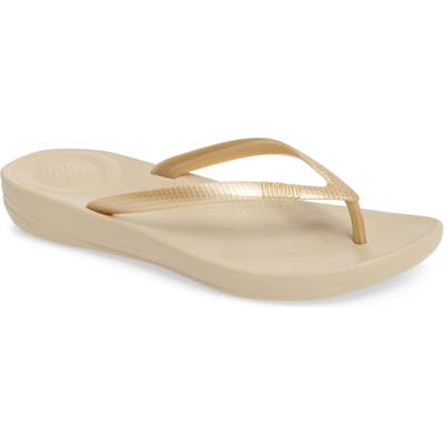 Fitflop Iqushion Flip Flop, Metallic