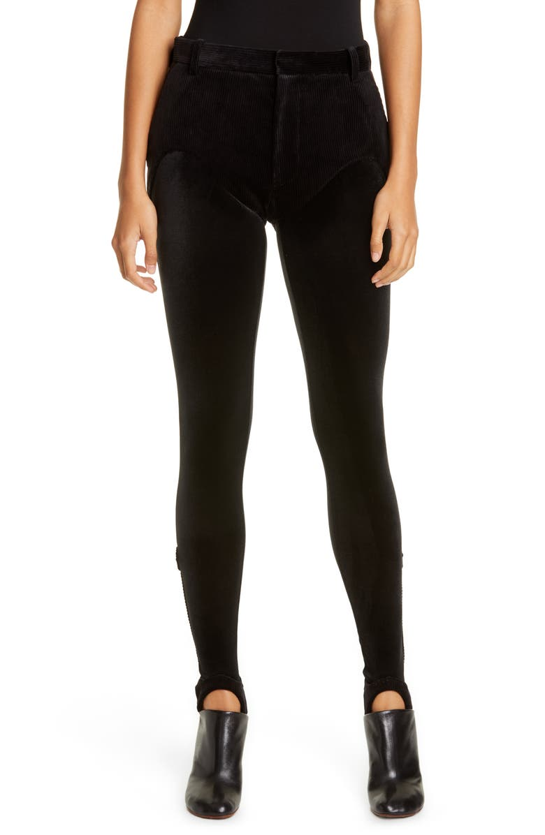 Y/PROJECT Stirrup Pants, Main, color, BLACK