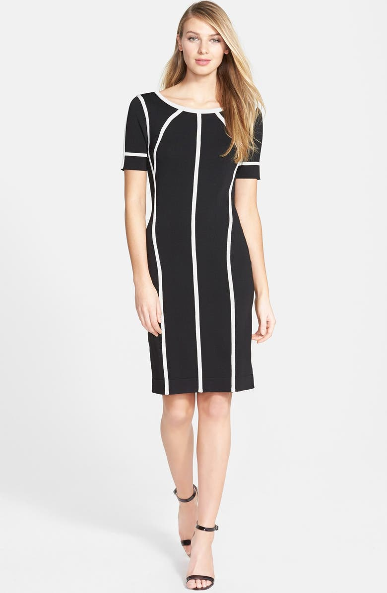 VINCE CAMUTO Short Sleeve Sweater Dress, Main, color, 006