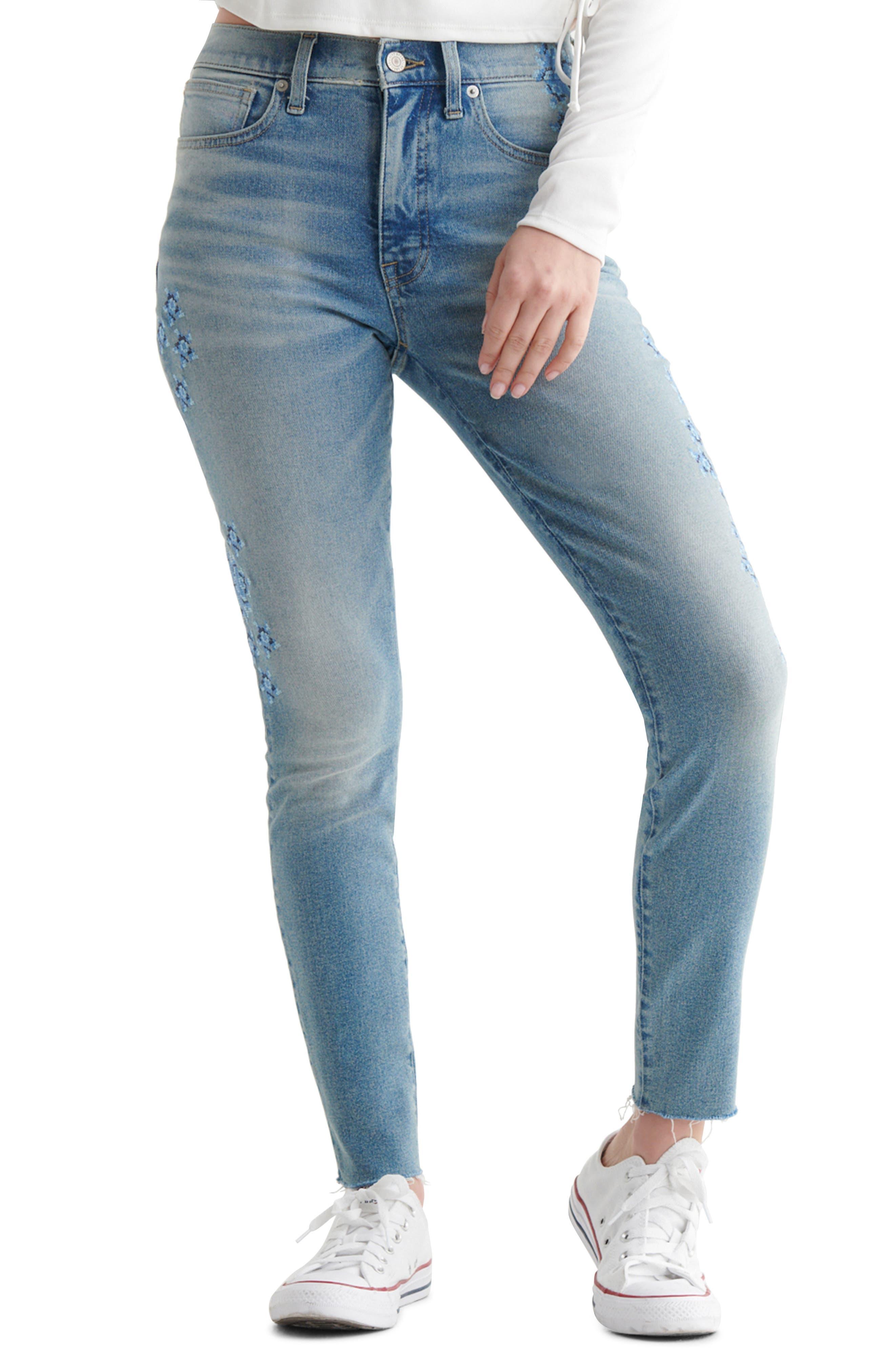 Bridgette Embroidered Skinny Jeans
