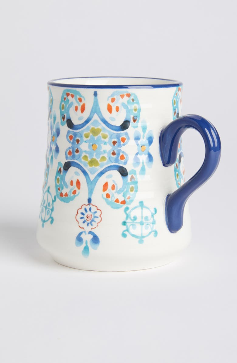 ANTHROPOLOGIE House of Mirrors Earthenware Mug, Main, color, 100
