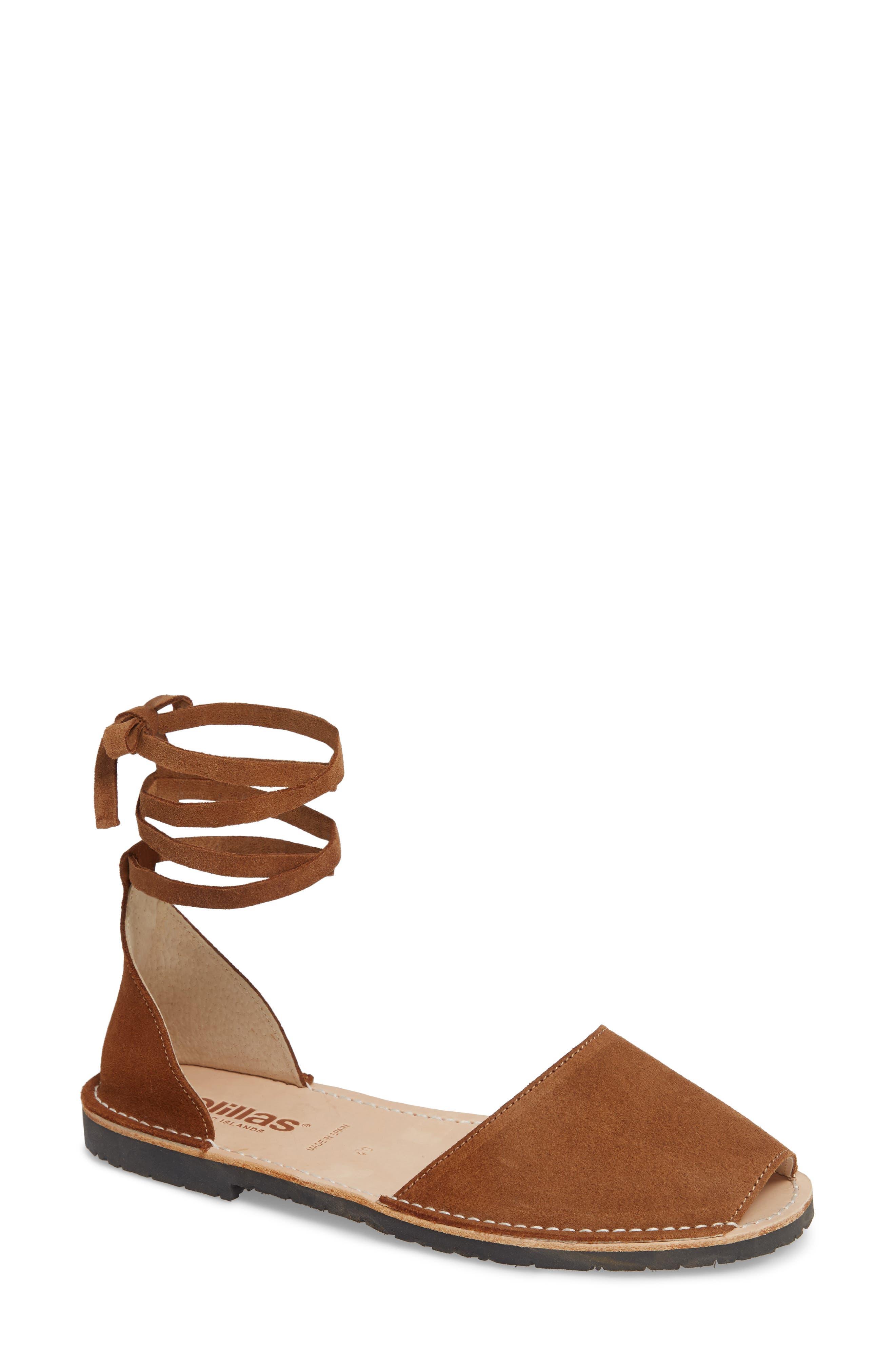 Solillas Ankle Tie Sandal (Women)