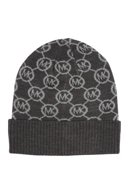 Image of Michael Kors Jet Set Logo Cuff Beanie Hat