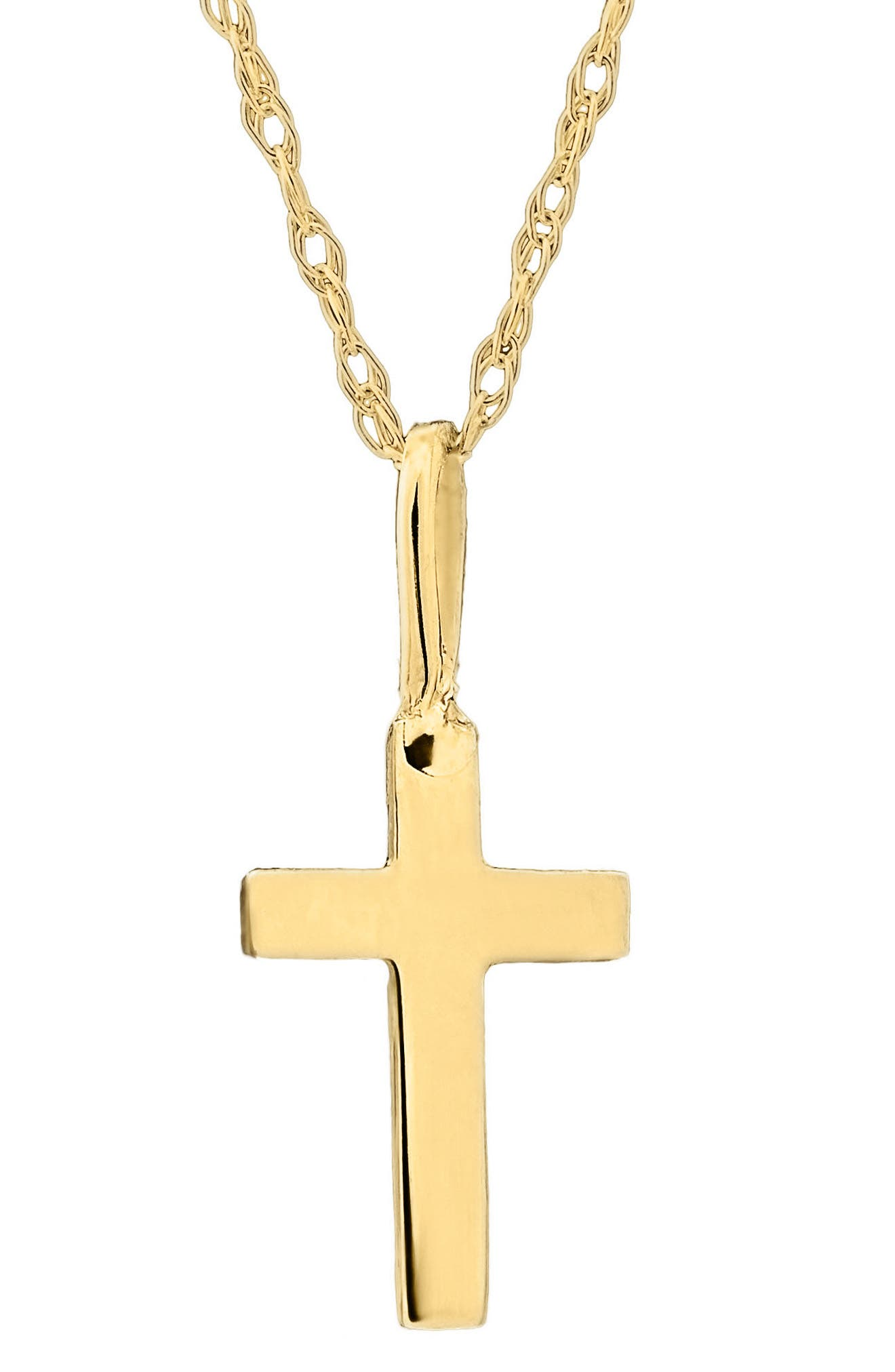 ,                             14k Gold Cross Necklace,                             Main thumbnail 1, color,                             GOLD
