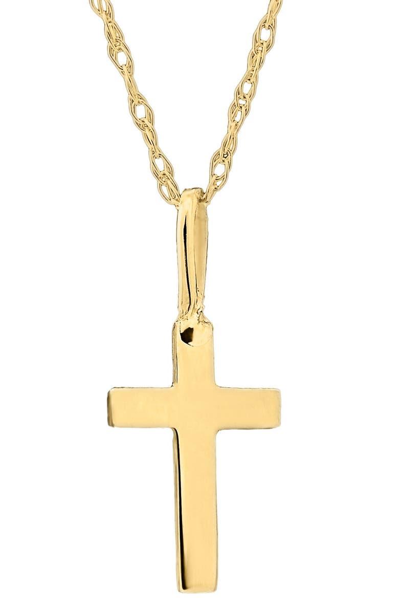 MIGNONETTE 14k Gold Cross Necklace, Main, color, GOLD