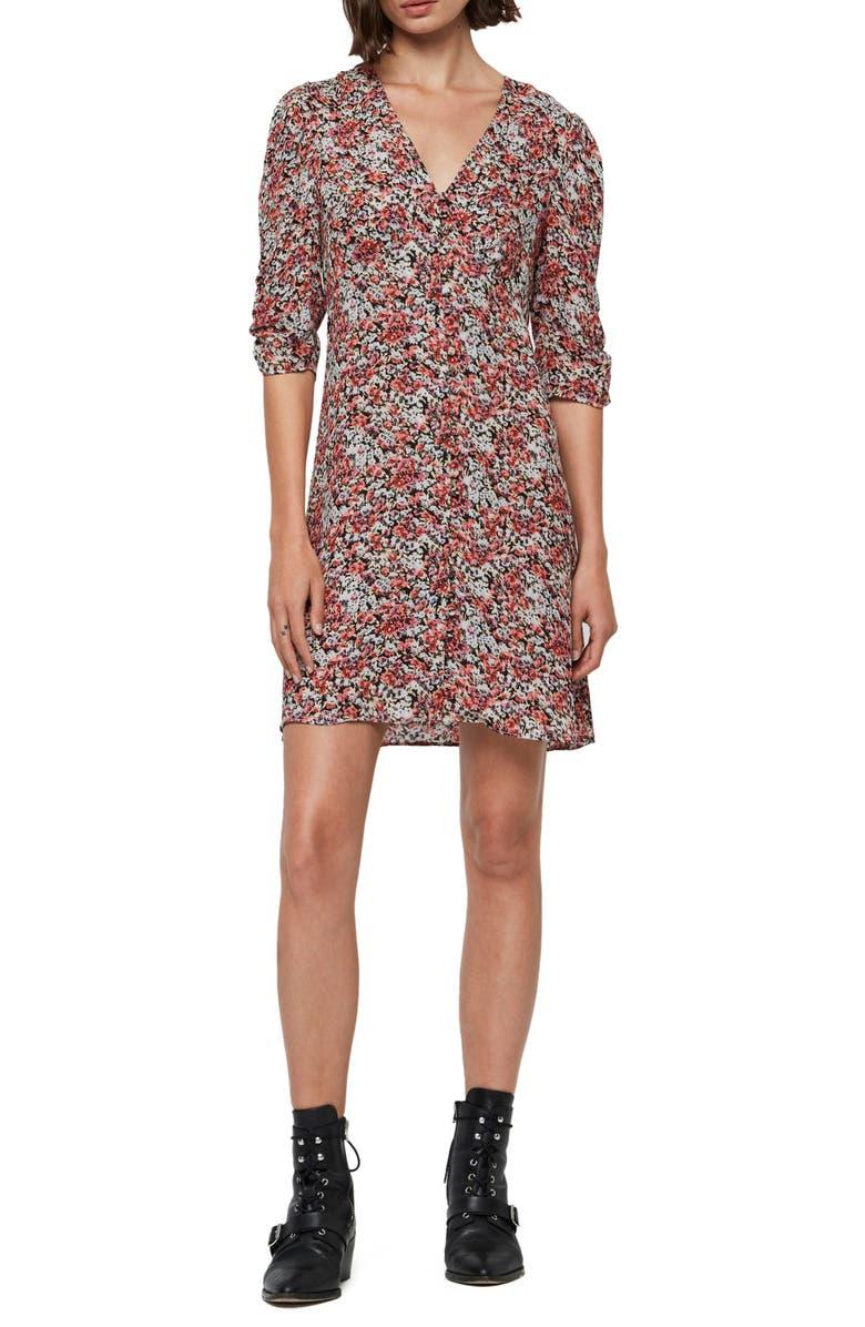 ALLSAINTS Malie Wilde Floral Dress, Main, color, BLUE