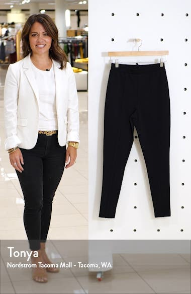 Essential High Waist Pintuck Ponte Leggings, sales video thumbnail