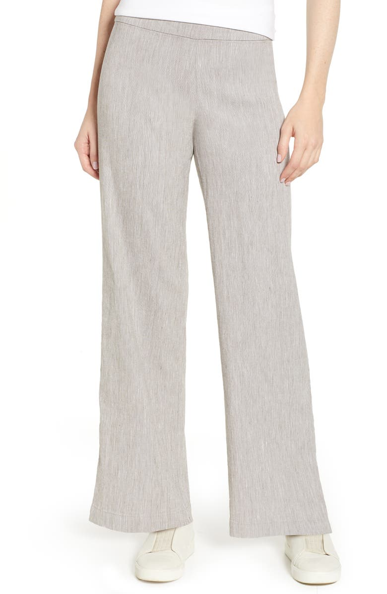 NIC+ZOE Here or There Linen Blend Pants, Main, color, LATTE MIX