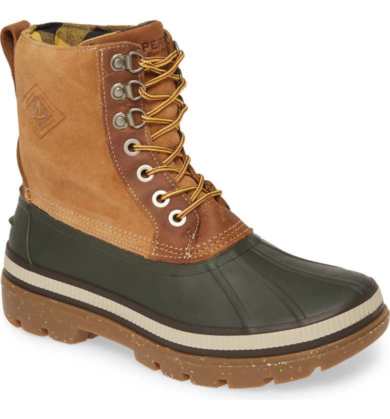 SPERRY Ice Bay Waterproof Snow Boot, Main, color, OLIVE/ TAN