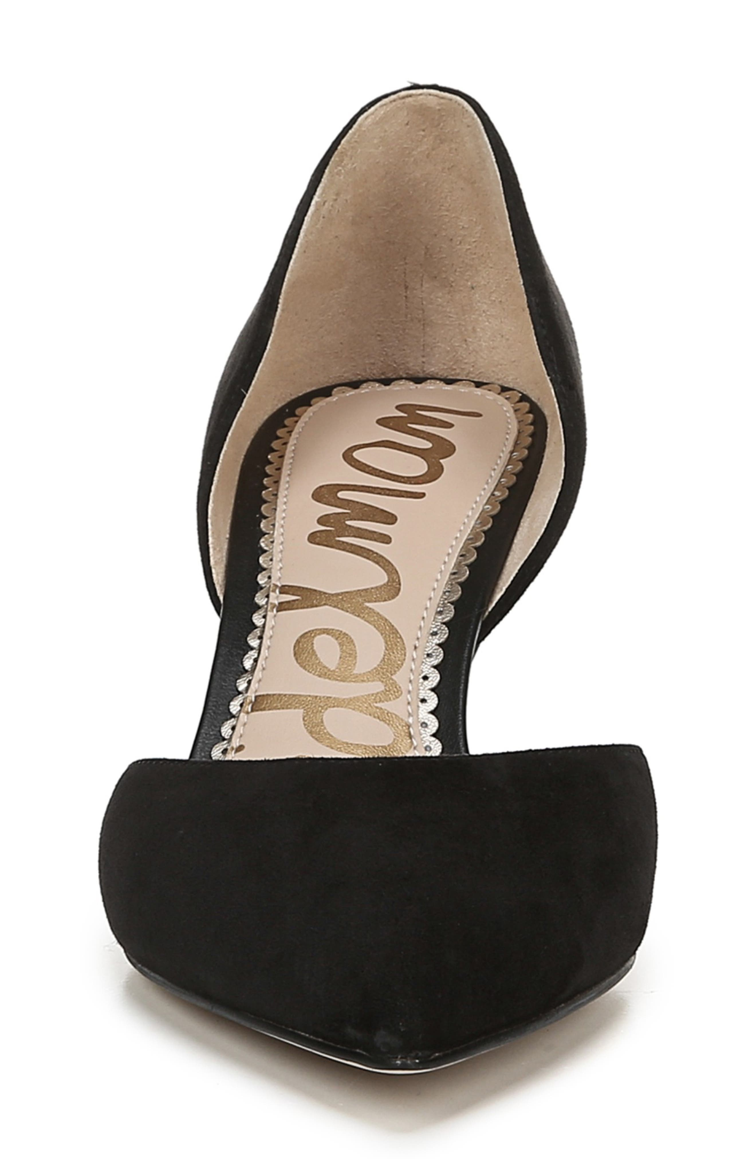 ,                             Jaina Pump,                             Alternate thumbnail 3, color,                             BLACK SUEDE LEATHER