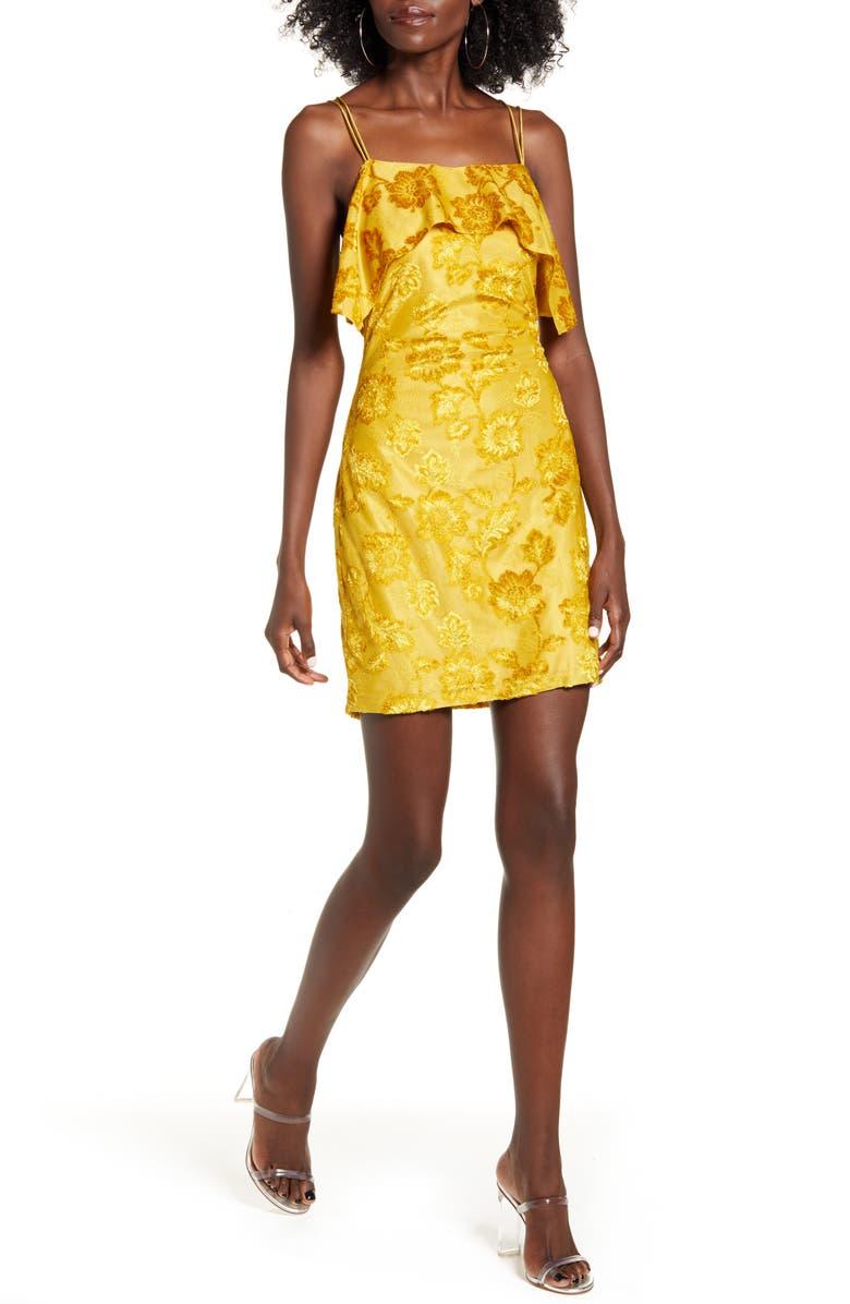ENDLESS ROSE Jacquard Sleeveless Minidress, Main, color, 700