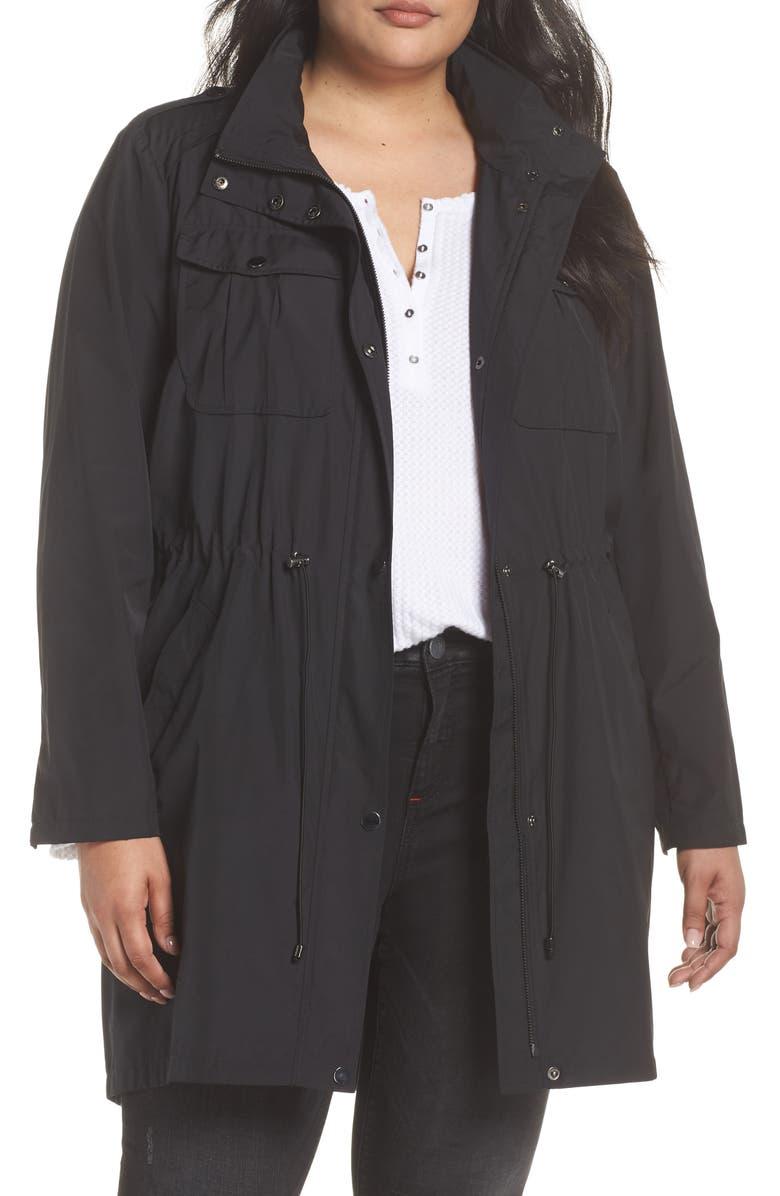 BADGLEY MISCHKA COLLECTION Badgley Mischka Dakota Raincoat, Main, color, 012