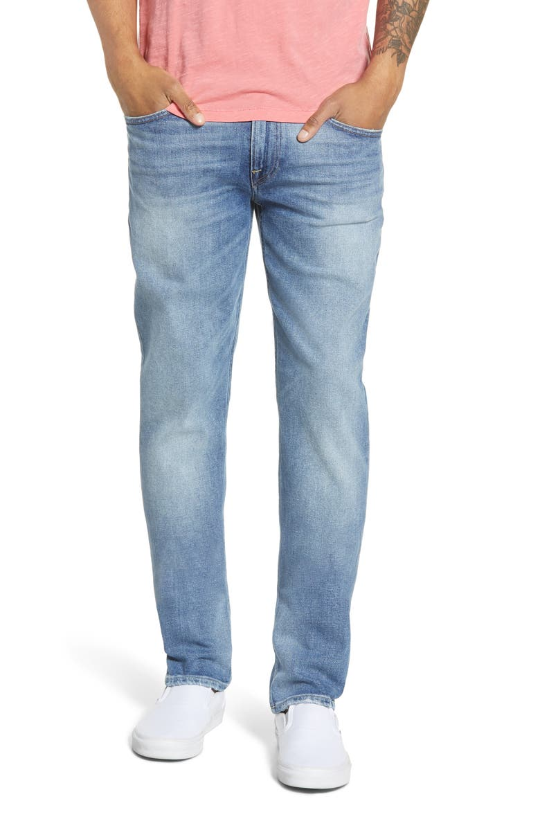 HUDSON JEANS Blake Slim Fit Jeans, Main, color, TITAN