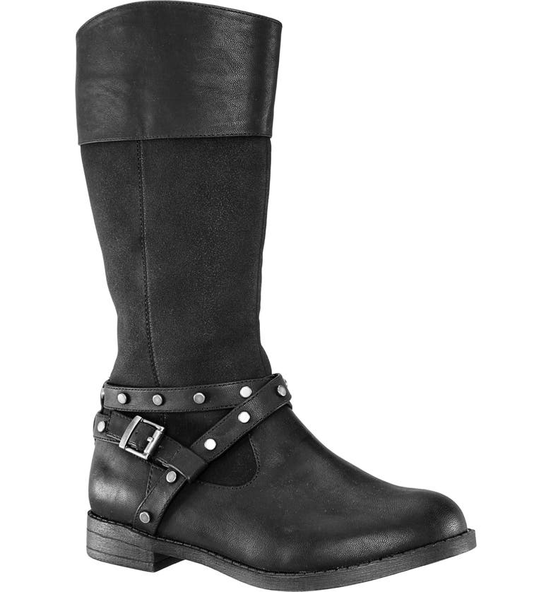 NINA Michele Boot, Main, color, BLACK SMOOTH/ SUEDE