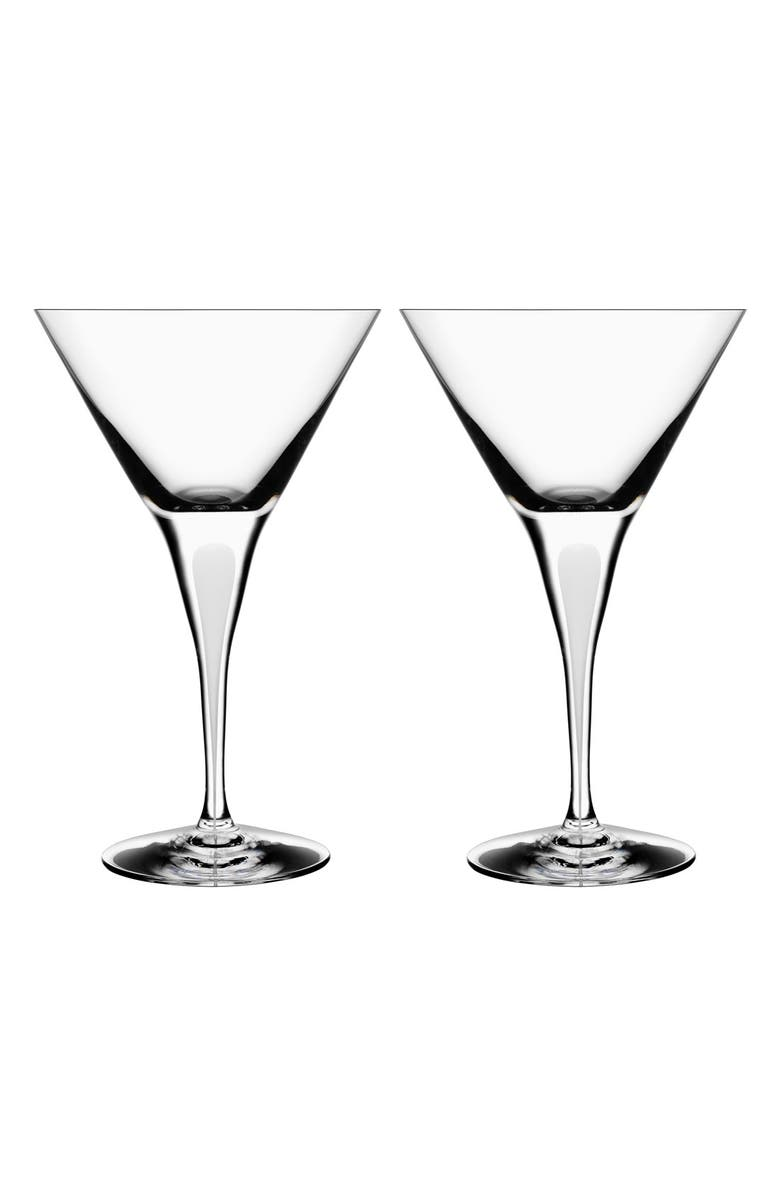 ORREFORS 'Intermezzo' Martini Glasses, Main, color, 100