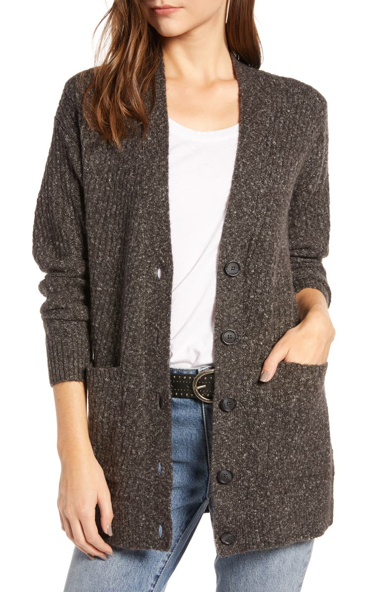 TREASURE & BOND Textured Cardigan, Main, color, 050