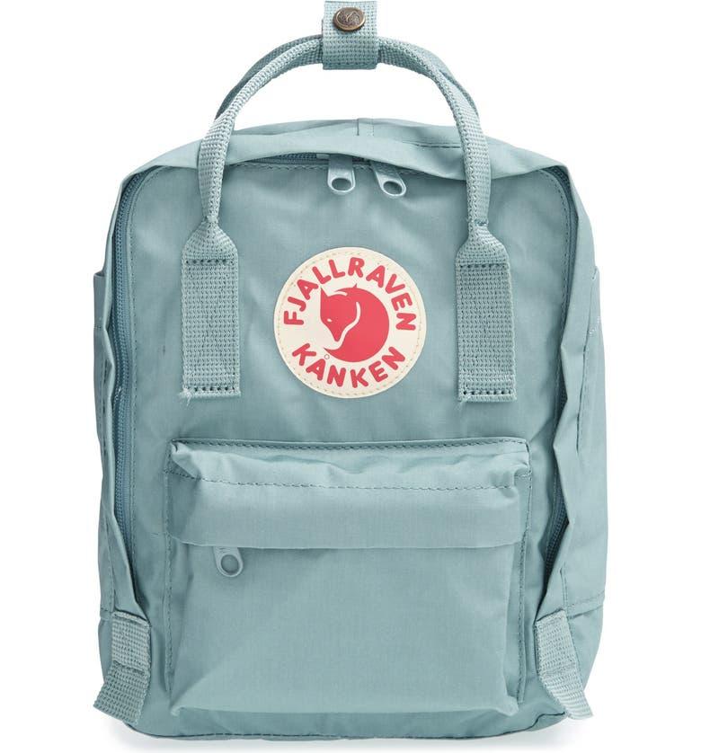 FJÄLLRÄVEN 'Mini Kånken' Water Resistant Backpack, Main, color, SKY BLUE