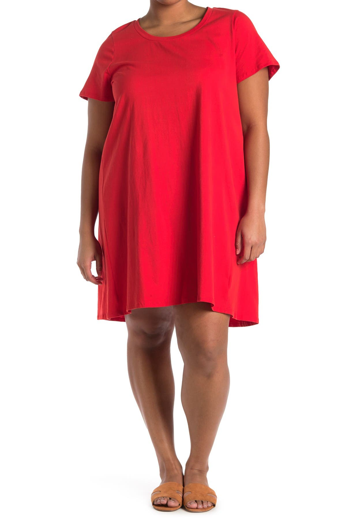 Image of Bobeau Striped T-Shirt Dress